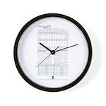 Maj7_Min9 Wall Clock