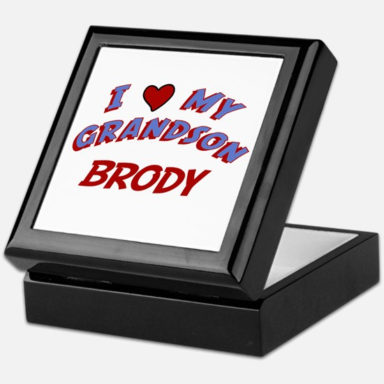 I Love My Grandson Brody Keepsake Box