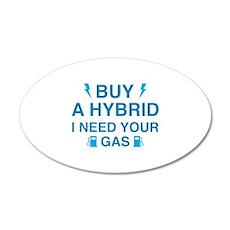 Buy A Hybrid 22x14 Oval Wall Peel