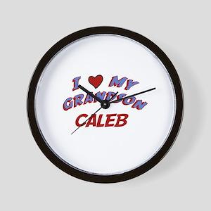I Love My Grandson Caleb Wall Clock