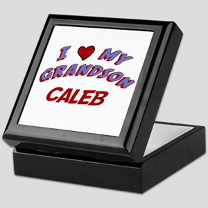 I Love My Grandson Caleb Keepsake Box