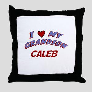 I Love My Grandson Caleb Throw Pillow
