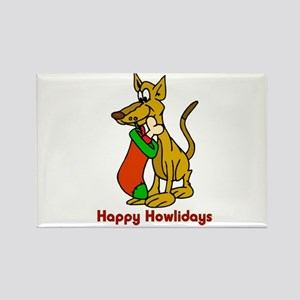 Happy Howlidays 2 Rectangle Magnet