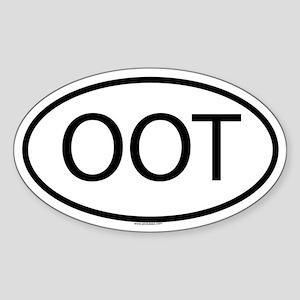 OOT Oval Sticker