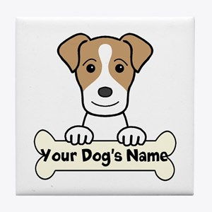 Personalized Jack Russell Tile Coaster
