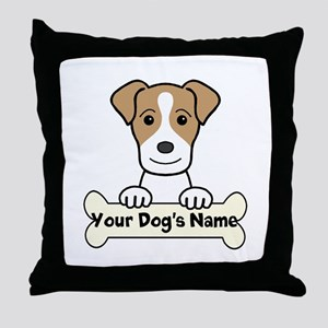 Personalized Jack Russell Throw Pillow