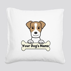 Personalized Jack Russell Square Canvas Pillow