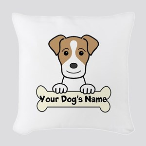 Personalized Jack Russell Woven Throw Pillow