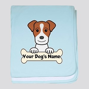 Personalized Jack Russell baby blanket