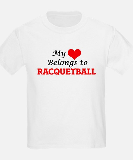 My heart belongs to Racquetball T-Shirt