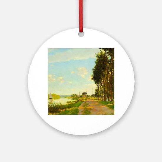 Argenteuil by Claude Monet Round Ornament