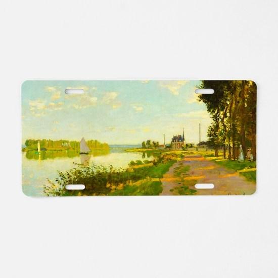 Argenteuil by Claude Monet Aluminum License Plate