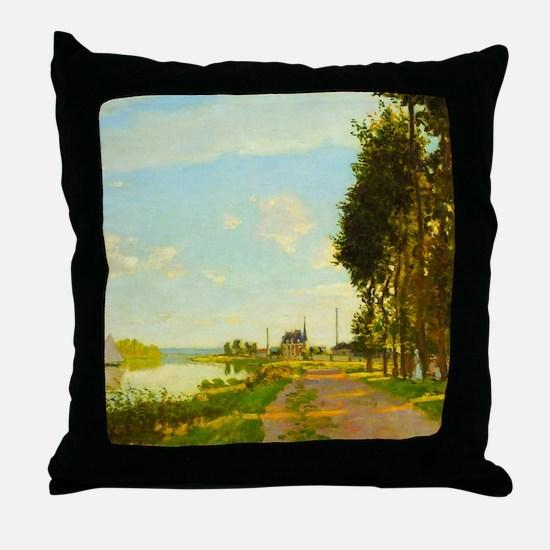 Argenteuil by Claude Monet Throw Pillow