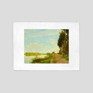 Argenteuil by Claude Monet 5'x7'Area Rug