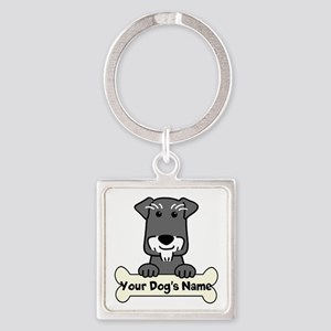 Personalized Mini Schnauzer Square Keychain