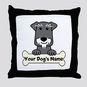 Personalized Mini Schnauzer Throw Pillow