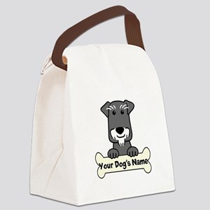 Personalized Mini Schnauzer Canvas Lunch Bag
