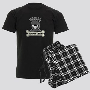 Personalized Mini Schnauzer Men's Dark Pajamas