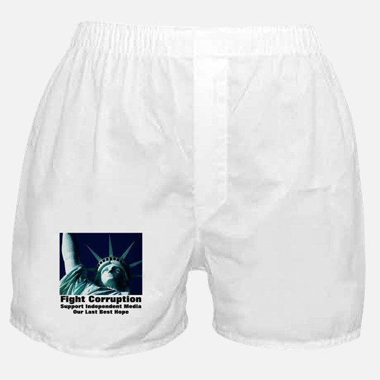 Support Independent Media Boxer Shorts