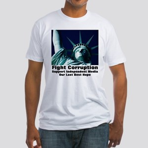 Support Independent Media Fitted T-Shirt
