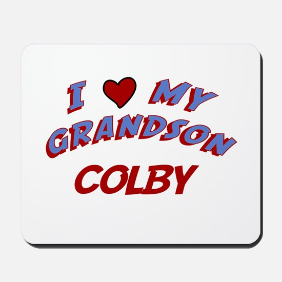 I Love My Grandson Colby Mousepad