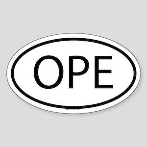 OPE Oval Sticker