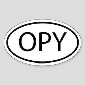 OPY Oval Sticker