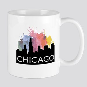 Chicago Skyline Colors Mugs