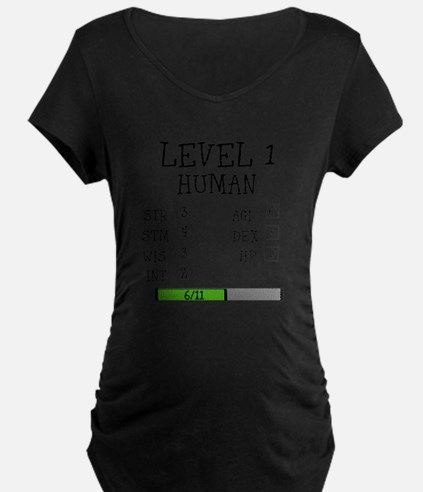 Level 1 Human Maternity T-Shirt