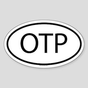 OTP Oval Sticker