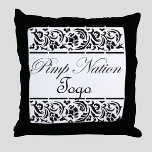 Pimp nation Togo Throw Pillow