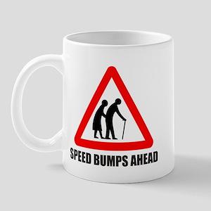 Funny road sign speed bumps a Mug