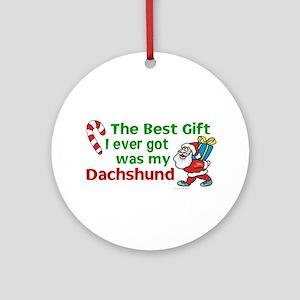 Best Gift 2 (Dachshund) Ornament (Round)