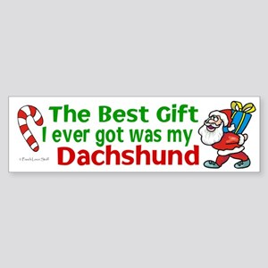 Best Gift 2 (Dachshund) Bumper Sticker