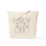 Navy Mom  Tote Bag