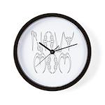 Navy Mom Wall Clock