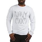 Navy Mom Long Sleeve T-Shirt