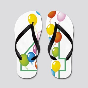 four years party Flip Flops