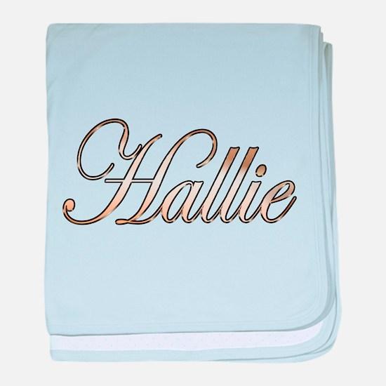 Gold Hallie baby blanket