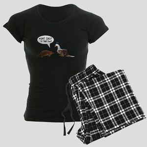platypus awkward encounter Women's Dark Pajamas