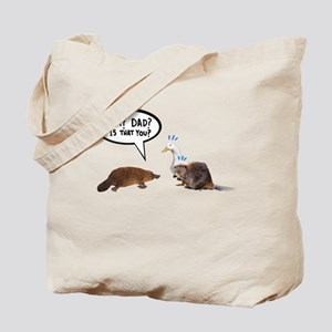 Platypus Awkward Encounter Tote Bag