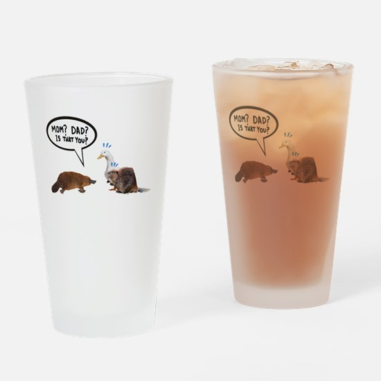 platypus awkward encounter Drinking Glass