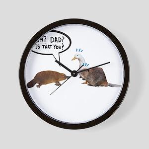 platypus awkward encounter Wall Clock