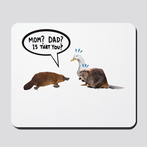 platypus awkward encounter Mousepad