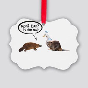 platypus awkward encounter Picture Ornament