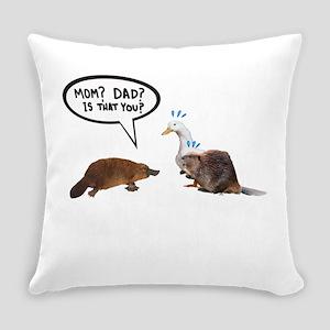 platypus awkward encounter Everyday Pillow