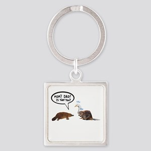 platypus awkward encounter Keychains