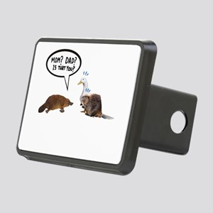 platypus awkward encounter Rectangular Hitch Cover