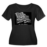 Barcode Flag - God Less Ameri Women's Plus Size Sc