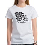 Barcode Flag - God Less Ameri Women's T-Shirt